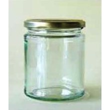 Toples 500 ml Round Glass Jar with metal lid P017