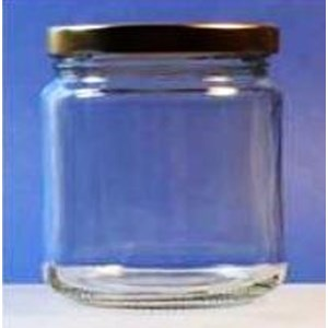 Toples 430 ml Round Glass Jar with metal Lid P028