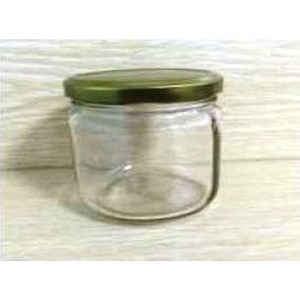 Toples 300 ml Round Glass Jar with metal lid P011