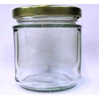 Toples 100 ml Round Glass Jar with metal lid P016