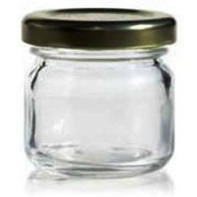 Toples 40 ml Round Glass Jar with metal lid P027