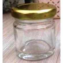Toples 30 ml Round Glass Jar with metal lid P013