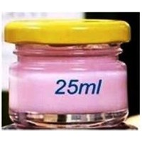 Toples 25 ml Round Glass Jar with metal lid P024 1