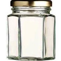 Toples 250 ml (320 g) Hexagon Glass Jar with metal lid P016 1