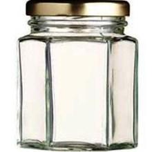 Toples 250 ml (320 g) Hexagon Glass Jar with metal lid P016