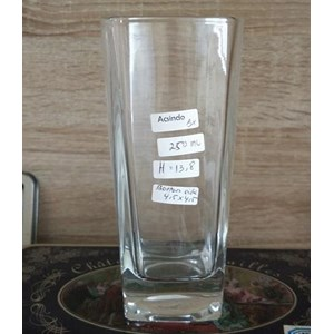 Gelas 250 ml Tall Square Drinking Cup P052