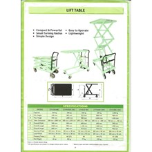 Scissor Meja Lift Table OPK