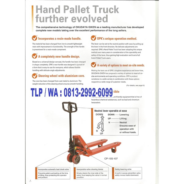 Hand Pallet OPK 3 Ton