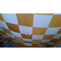 Jual Plafon Dekorasi Tenda Pesta Model Catur 2