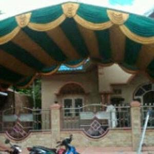 Plafon Dekorasi Tenda Pesta Model Ombak