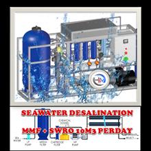 MESIN SEAWATER RO 10 TON PERHARI