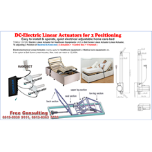 LINEAR ACTUATOR SET FOR ELECTRICAL BED WITH 2 POSITIONS