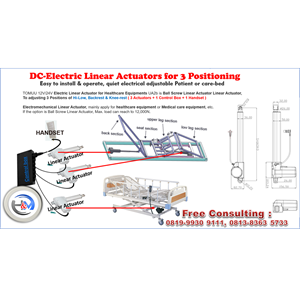ELECTRIC LINEAR ACTUATOR SET FOR ELECTRICAL BED 3 POSITION