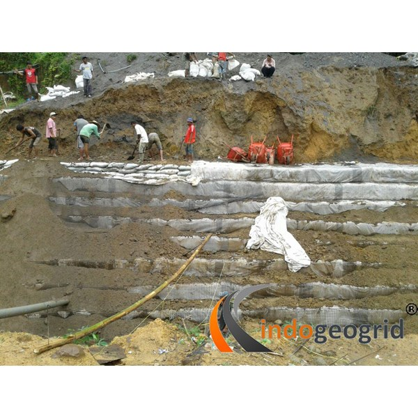Geogrid untuk Penahan longsor