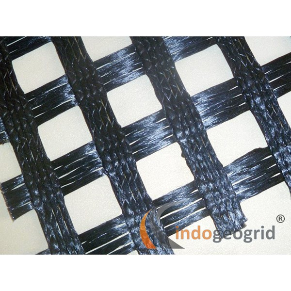 Uniaxial Geogrid Polyester Polypropylene HDPE