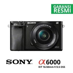 Kamera Digital Mirrorless Sony A6000 Kit 16-50Mm Hitam
