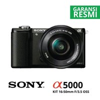 Kamera Digital Mirrorless Sony A5000 Kit 16-50Mm Hitam