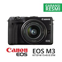Kamera Digital Mirrorless Canon Eos M3 Kit Ef-M15-45Mm Hitam