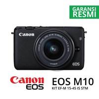 Kamera Digital Mirrorless Canon Eos M10 Kit Ef-M15-45Mm Hitam