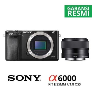 Kamera Digital Mirrorless Sony A6000 Kit Sel 35Mm F/1.8 Oss Hitam