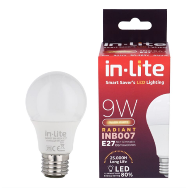 Bohlam Led In-Lite INB007-9WW Kuning