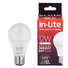 Bohlam Led In-Lite INB007-12CW Putih 1