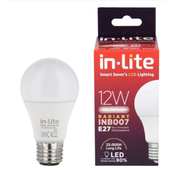 Bohlam Led In-Lite INB007-12CW Putih