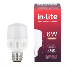 Lampu Bohlam LED In-Lite 6 Watt - INBC001-6WW Kuning
