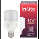 Lampu Bohlam LED In-Lite INBC001-10CW Kuning 1