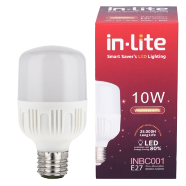 Lampu Bohlam LED In-Lite INBC001-10CW Kuning