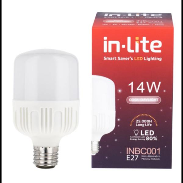 Lampu Bohlam LED In-Lite INBC001-14CW Putih
