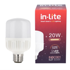Lampu LED Bohlam In-Lite INBC001-20WW Putih 1