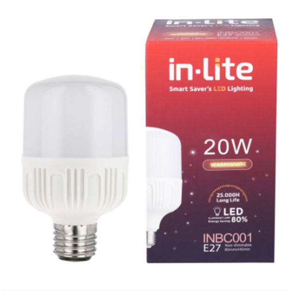 Lampu LED Bohlam In-Lite INBC001-20WW Putih