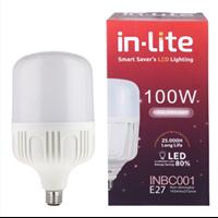 Jual Lampu Bohlam LED In-Lite INBC001 - 100CW Putih