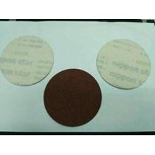 Amplas Bulat 4 Inci Atau Velcro Disc Red