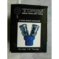 Distributor Quick Coupler Angin 2 Cabang Bulet 3