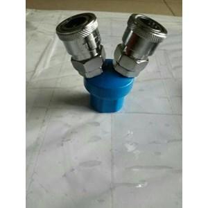 Quick Coupler Angin 2 Cabang Bulet