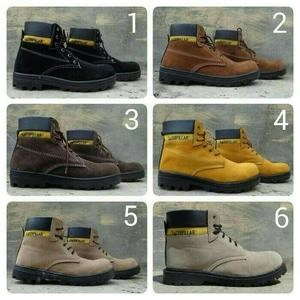 Sepatu Safety Merk Caterpillar Ada Besi Diujung Kaki