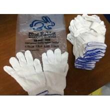 Sarung tangan benang Blue Rabbit 5 Benang List Biru