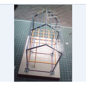 Kerangka Replika Rumah Dua Lantai