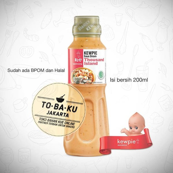 Condiments Cookies Kewpie Salad Dressing Thousand Island Flush Sauce Bottle Pack 200ml