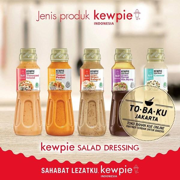 Bumbu Masak Kewpie Salad Dressing Saus Siram CAESAR aroma Keju Kemasan Botol 200ml