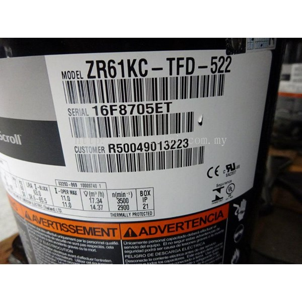 Sell kompressor copeland scroll model zr61kc-tfd-522 ( 5pk )