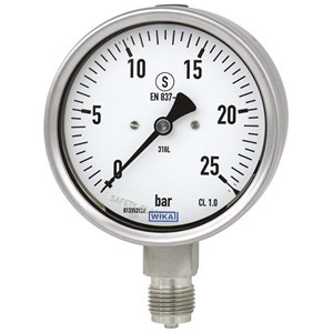 Dari Alat Ukur Tekanan Air - Distributor Pressure Gauge WIKA 0