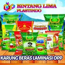 Kemasan Karung Beras Laminasi OPP Full Color Printing 25kg 20Kg 15Kg 10Kg 5Kg