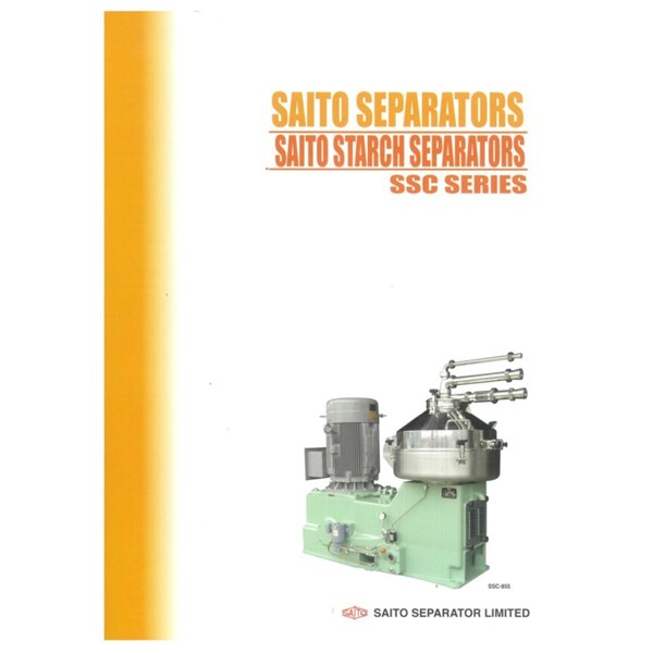 Mesin Starch separator  / Saito Separator SSC Series