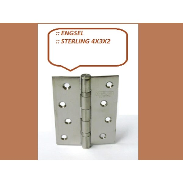 Sterling Engsel Pintu dan Jendela 4x3x2