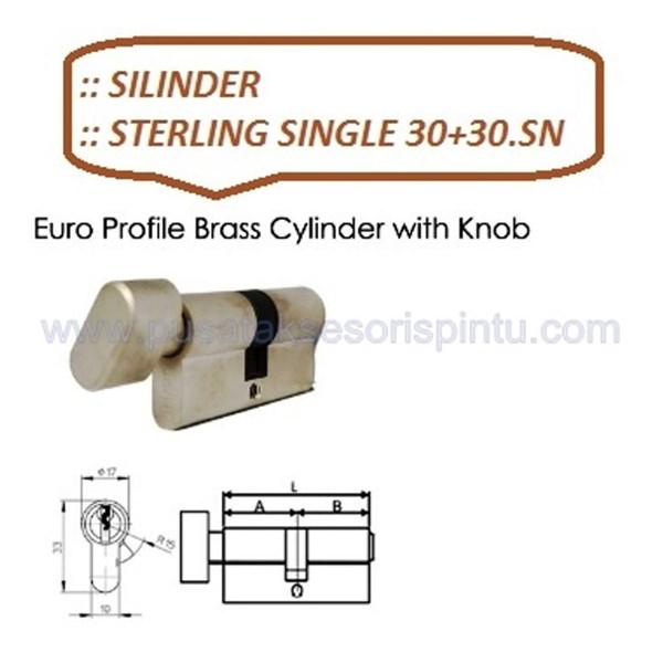 Sterling Handle Pintu Single 30+30