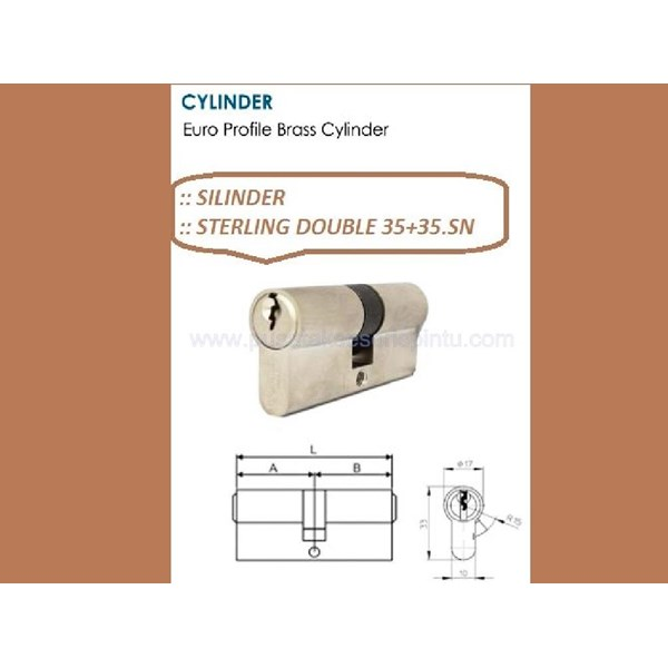 Sterling Handle Pintu Double 35+35.SN