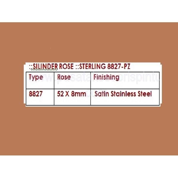 Sterling Silinder Rose 8827